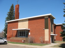 church exterior - west side